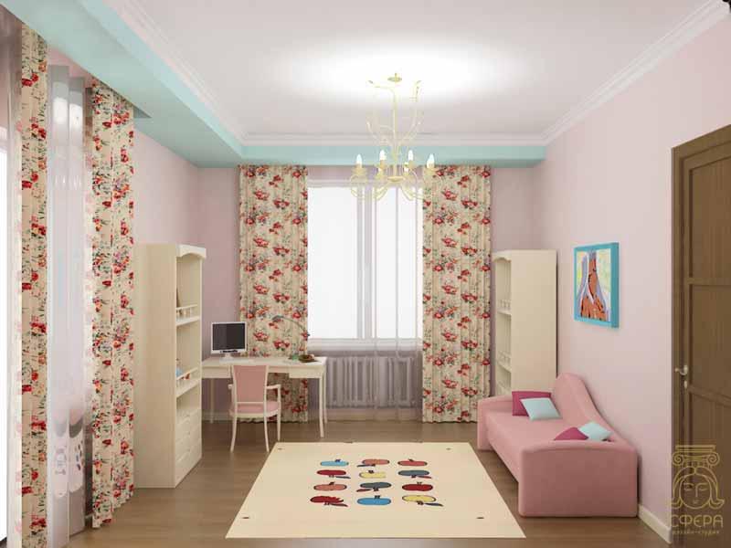 детская комната в пастельных тонах фото