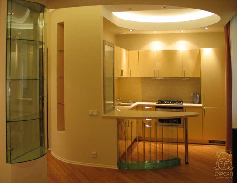 Дизайн гостиной с обеденным столом